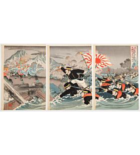 ginko adachi, war print, senso-e, japanese army, imperial army, japanese history, meiji period