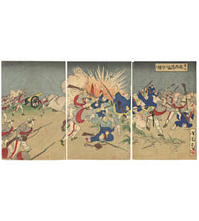 kokunimasa utagawa, war print, japanese history, japanese imperial family, meiji era