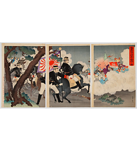 ginko adachi, war print, senso-e, japanese imperial army, japanese history, meiji period