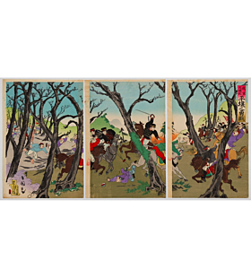 kokunimasa utagawa, war print, japanese history, battle, meiji period