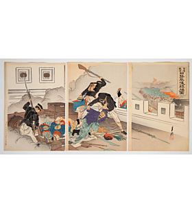 gekko ogata, war print, japanese imperial army, battle, japanese history, meiji period