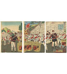 nobukazu yosai, war print, japanese imperial army, battle, japanese history, meiji period