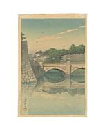 hasui kawase, nijubashi bridge, tokyo travel