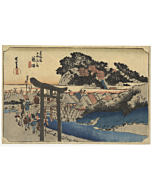 hiroshige I utagawa, fujisawa, tokaido road, japan travel
