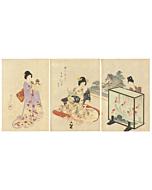 Chikanobu Yoshu, Goldfish, High-ranking Ladies in the Tokugawa Era