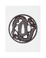 iron tsuba, sword hand guard