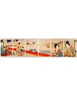 Chikanobu Yoshu, Ladies Enjoying Noh Theatre, Tokugawa Era