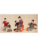 chikanobu yoshu, kimono design, kimono fashion
