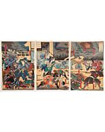 yoshitora utagawa, samurai, battle