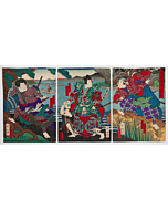 shigehiro kikusui, Kabuki Play, Yamato Nishiki Asahi no Hataage