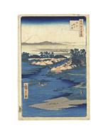 hiroshige I utagawa, Horie and Nekozane, one hundred famous views of edo, mount fuji