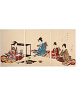 chikanobu yoshu, tea ceremony, High-ranking Ladies of the Tokugawa Era, kimono design