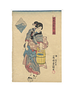 Toyokuni III Utagawa, Mizunoe, Beauty Carrying Water
