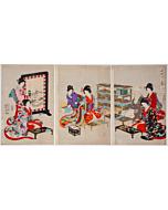 chikanobu yoshu, Matching Poems, Court Ladies of the Chiyoda Palace