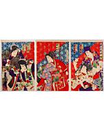 Kunichika Toyohara, Kabuki Actors in Roles of Enchanters, Comparison of Magic
