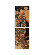 toyokuni II utagawa, beauty, kimono design