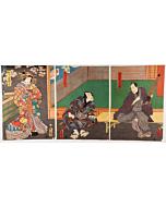 toyokuni III utagawa, sukeroku, traditional theatre