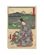 hiroshige ando, toyokuni III utagawa, narihira, yatsuhashi, tokaido