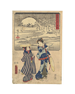 hiroshige ando, toyokuni III utagawa, snow scene, japan travel