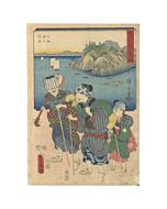 Hiroshige I and Toyokuni III Utagawa, View of the Sea at Imagiri, Tokaido Road