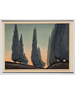 mokuchu urushibara, landscape, dawn