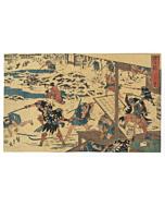 hiroshige ando, Storehouse of Loyal Retainers, faithful samurai