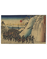 Hiroshige Ando, After Attack, The Storehouse of Loyal Retainers