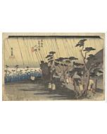 Hiroshige Ando, Oiso, Rain by the Coast, The Fifty-three Stations of the Tokaido
