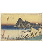 hiroshige ando, Maisaka, The Fifty-three Stations of the Tokaido, landscape