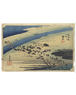 hiroshige ando, shimada, The Fifty-three Stations of the Tokaido, landscape, travel