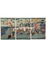 hiroshige III utagawa, warrior, samurai