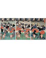 kuniyoshi utagawa, ise song, dance, performance