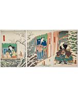 Toyokuni III Utagawa, Kabuki Actors, Traditional Theatre, Snow Scene