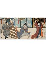 Toyokuni III Utagawa, Kabuki Play, Chuko Homare no Takanowa