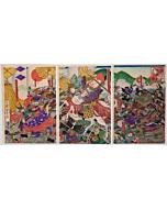 yoshitora utagawa, Great Battle of Kawanakajima, samurai, warrior, japanese history
