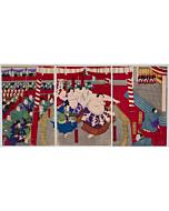 toyonobu utagawa, sumo wrestling, meiji period