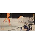 Kiyochika Kobayashi, The Great Victory at the Battle of Chemulpo Bay, War Print