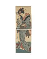 Eizan Kikugawa, japanese beauty, kimono, japanese doll, japanese woodblock print, edo, japanese antique