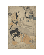 japanese woodblock print, japanese antique, ukiyo-e, utamaro, beauty