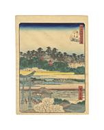 Hiroshige II Utagawa, Yushima Tenjin Shrine, Famous Views of Edo