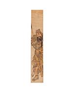 chinese warrior, hashira-e, pillar print