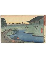 hiroshige I utagawa, Benkei Embankment, Soto-Sakurada(外さくら田弁慶堀), Famous Places of the Eastern Capital(東都名所)
