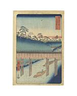 hiroshige ando, ochanomizu in edo, landscape, mount fuji