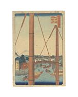 hiroshige ando, inari bridge, mount fuji, edo