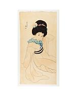 ito shinsui, young lady in kimono