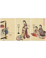 chikanobu, setsubun, spring, japan, japanese woodblock print
