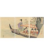 Chikanobu Yoshu, Boat Excursion, The Inner Palace of Chiyoda