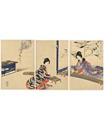chikanobu yoshu, japanese music, koto