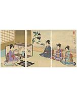 Chikanobu Yoshu, Tea Ceremony