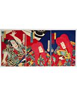 kunichika toyohara, kabuki theatre dance